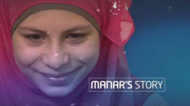 Syrian refugee Manar