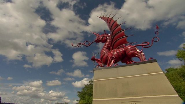 A memorial for the 38th Welsh Division in Mametz, France.