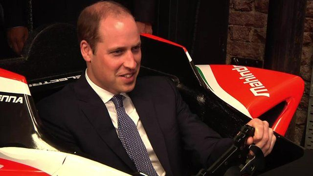 Prince William testing out racing game