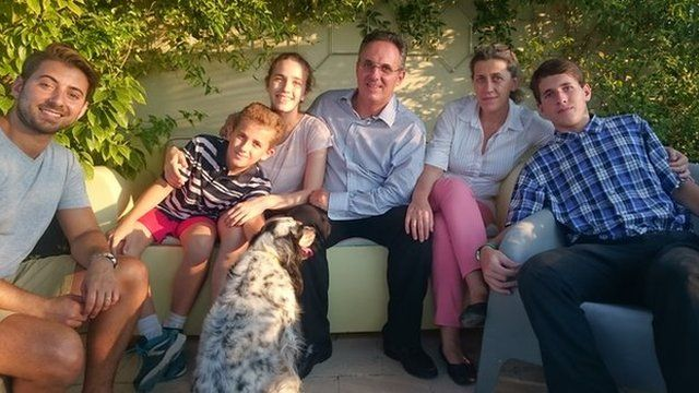 Ricky meets children in Greece