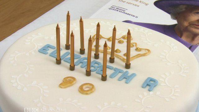 Queen's birthday cake