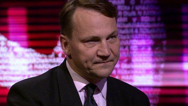 Radek Sikorski, former Polish foreign minister