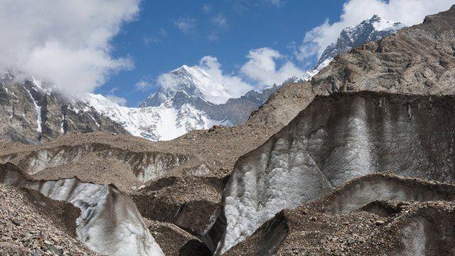 Debris covered glacier