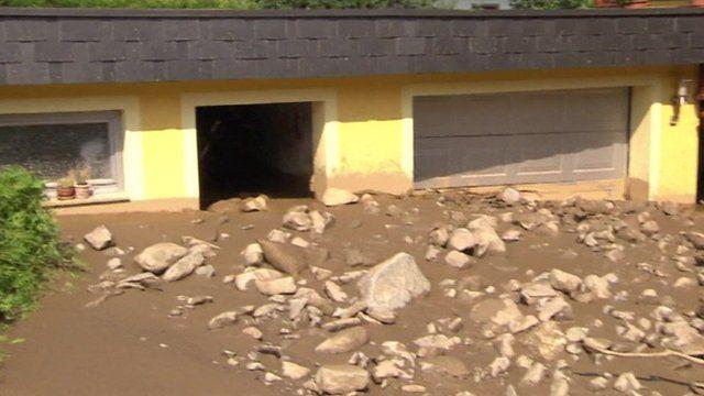 House damaged by mudslides