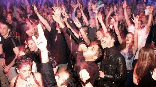 Revellers in club