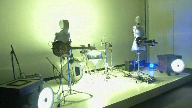 Robot band in Japan