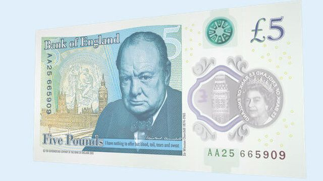 Image of new Bank of England £5 note