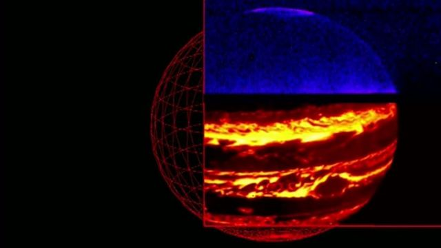 An infra-red view of Jupiter