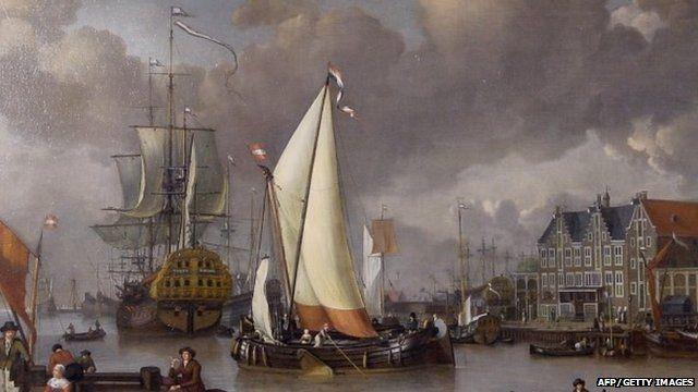 """Jan Claesz Rietschoof""""s """"View of Oostereiland"""" (1652-1719)"""