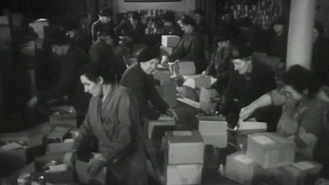 Women volunteering during World War II