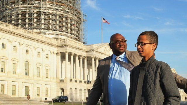 Ahmed Mohamed meets US President Barack Obama