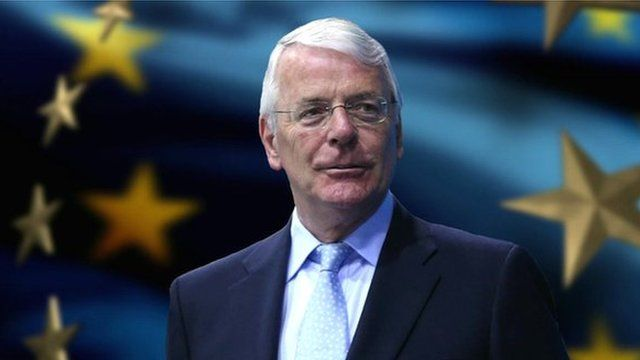John Major / EU flag graphic