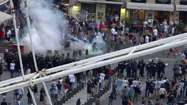 Tear gas in Marseille