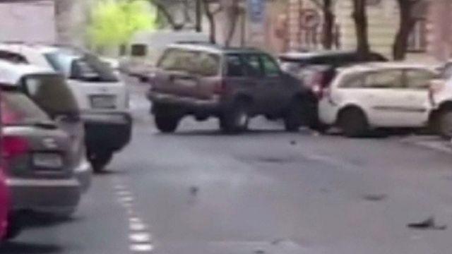 Prague car crashes