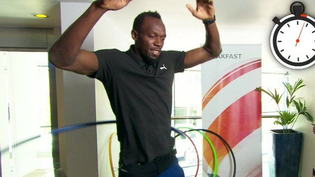 Usain Bolt hula hooping