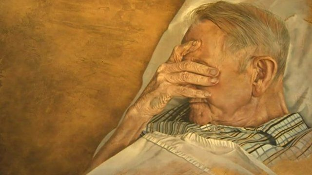 Vanessa Jayne's painting of her father-in-law, Stan Fifield