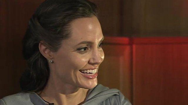 Angelina Jolie Pitt smiles