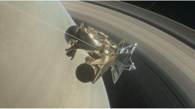 Risultati immagini per Saturn Probe Hit with Very Few Particles in Daring Dive