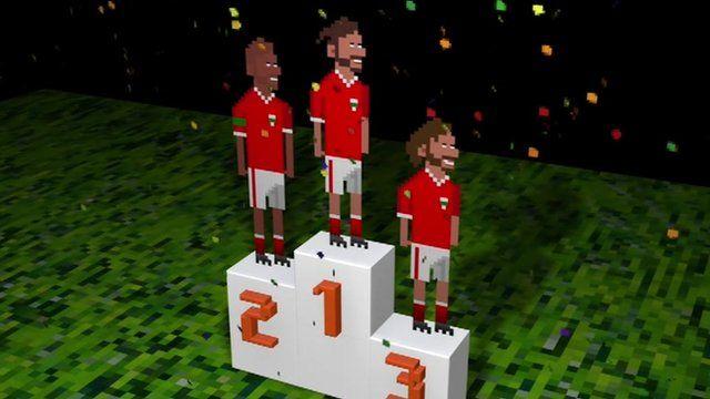 8-bit rendition of Wales winners
