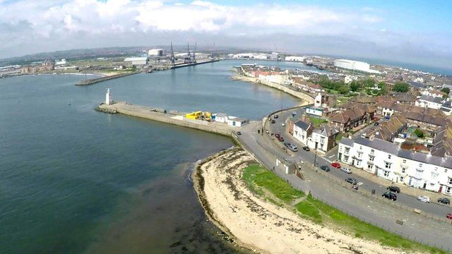 Aerial shot of Hartlepool