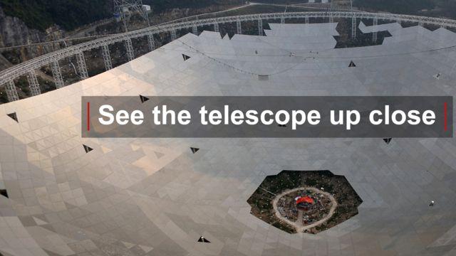 Fast radio telescope under construction, China