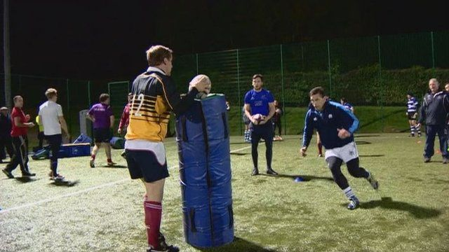 Rugby training session