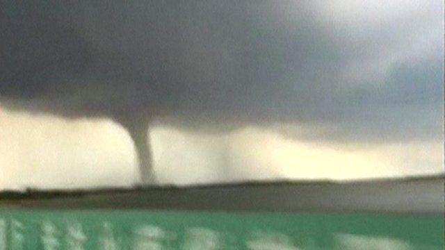 Tornado in China's Hainan province