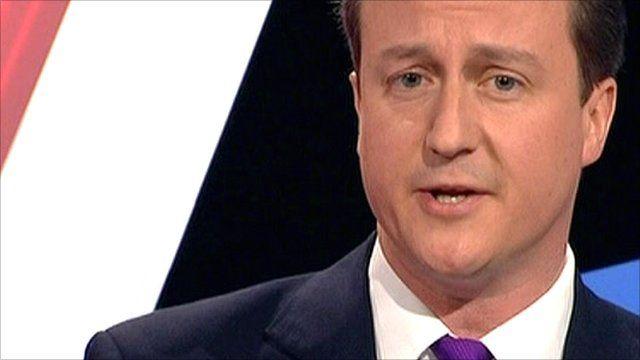 Prime Minister David Cameron pictured on 22 April 2010