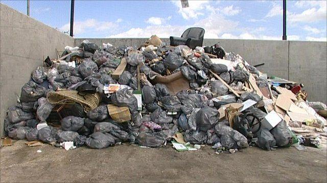 Rubbish pile in Colchester