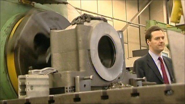 George Osborne at a factory