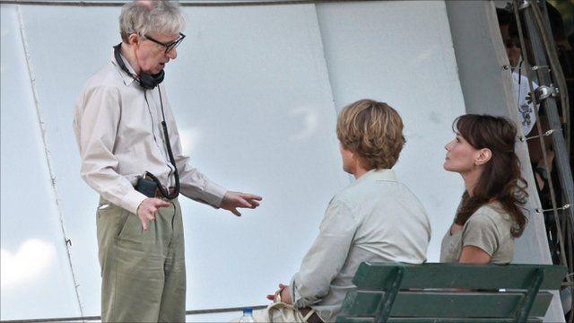 Woody Allen, Owen Wilson and Carla Bruni