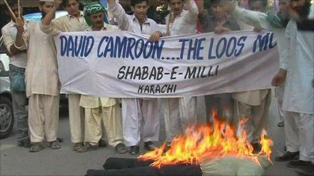 Protestors in Pakistan