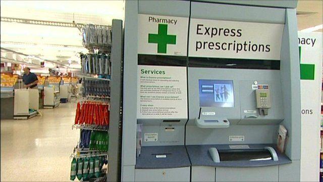 Prescription drug vending machine