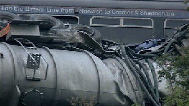Suffolk train crash