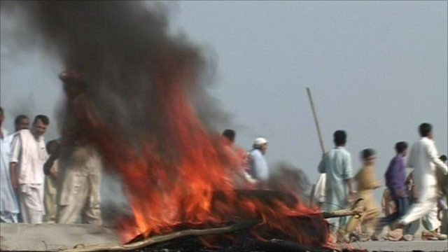 Protest over electricity in Pakistan