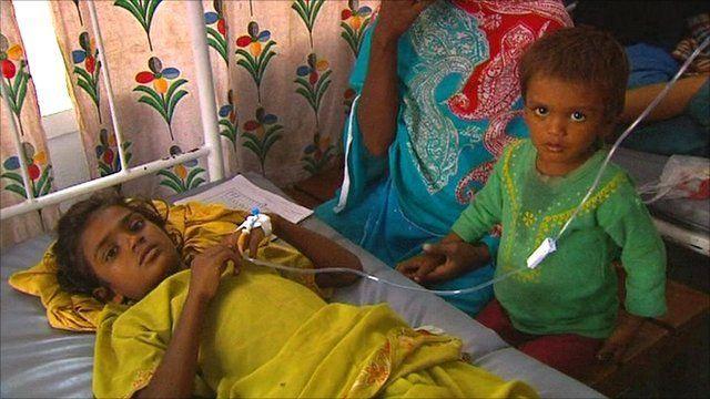 Child in hospital in Multan