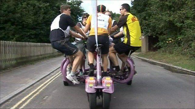 The seven-seated bike