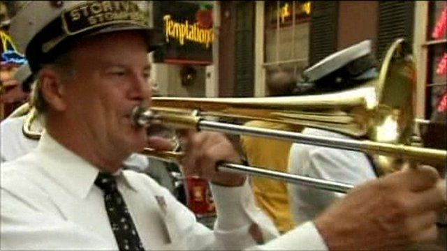 Trombone player in New Orleans