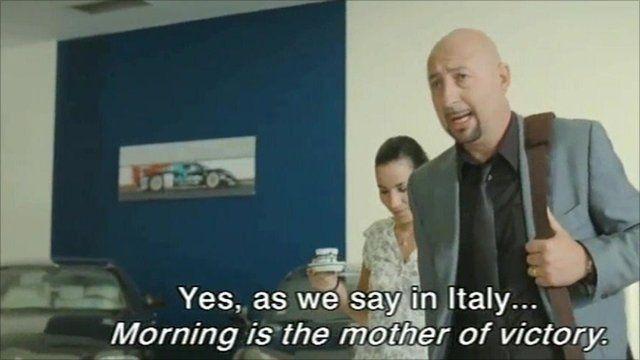 Still from film L'Italien
