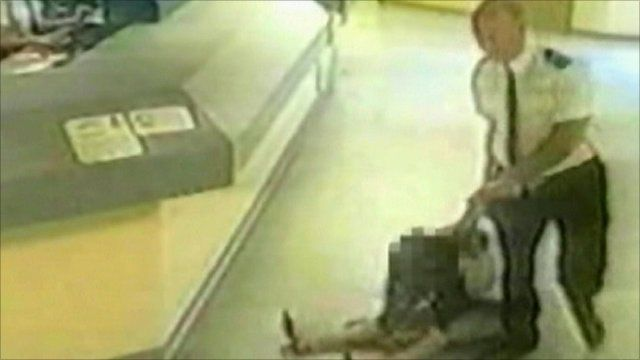 CCTV pictures show Pamela Somerville and Police Sergeant Mark Andrews