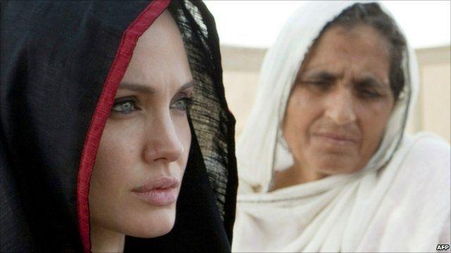 Angelina Jolie in Nowshera