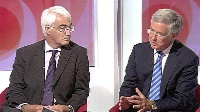 Alistair Darling and Michael Fallon