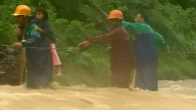 A child is rescued in Taitung county