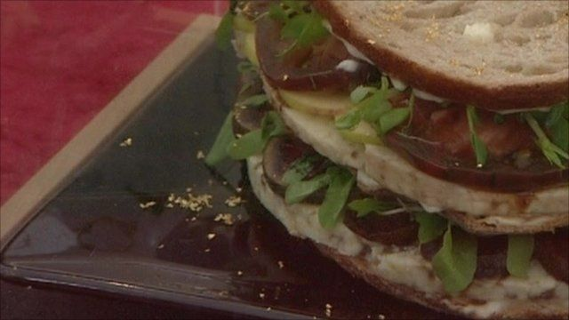 The cheese sandwich with gold dust