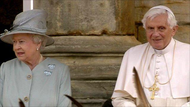 The Queen and Pope Benedict XVI