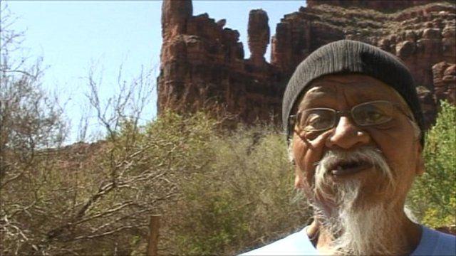 Rex Tilousi, history keeper of the Havasupai Native American tribe