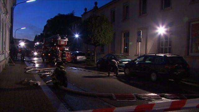 Crime scene, Loerrach, Germany
