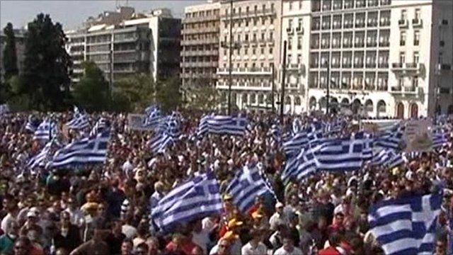 Truck drivers' protest in Greece