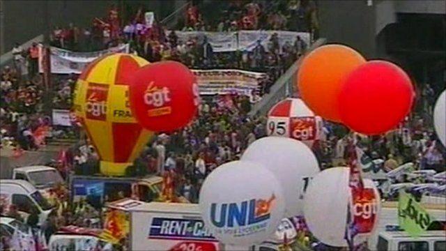 Demonstrations in Paris