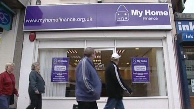 Exterior of My Home Finance shop